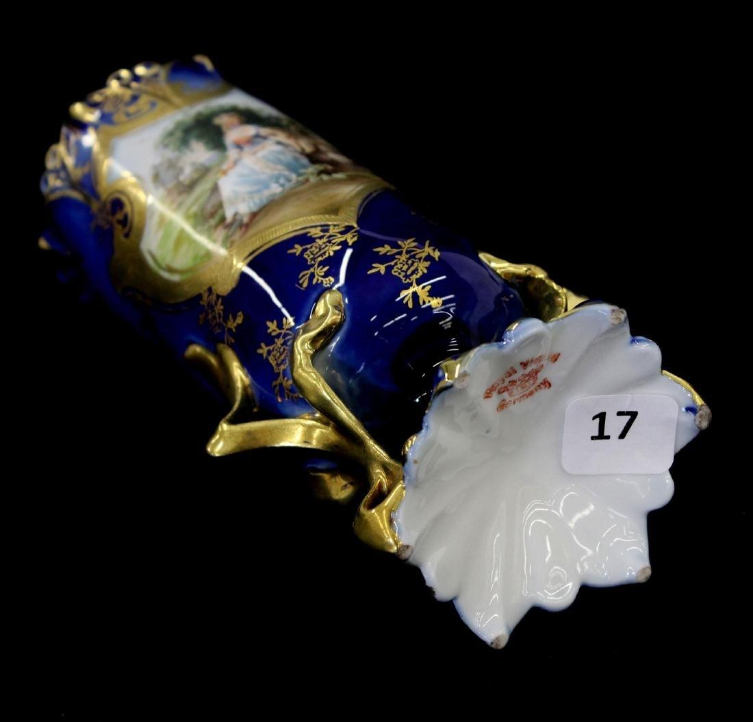 "Pedestal Vase - Royal Vienna Mark - 7"" - 3"