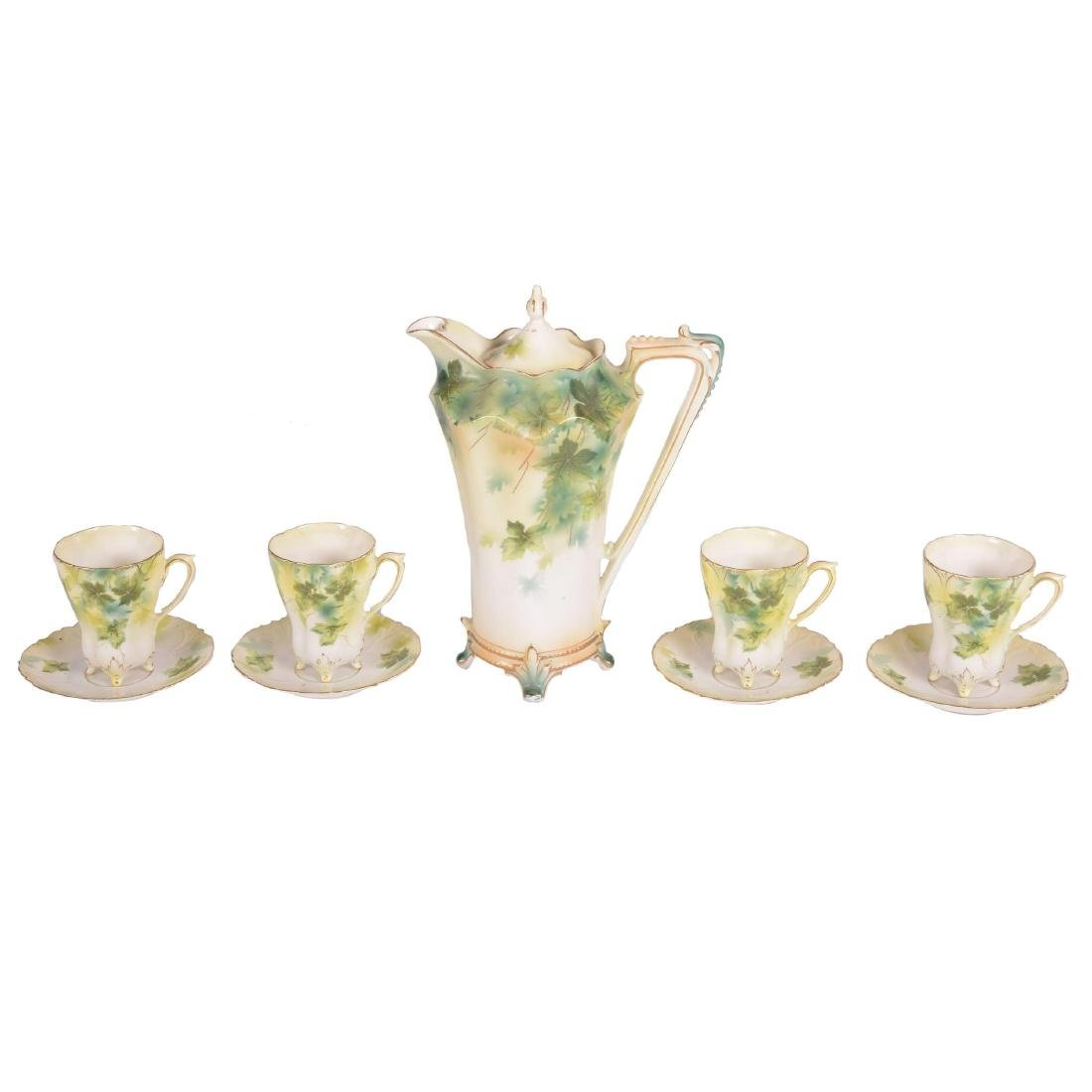 """Chocolate Set - Marked R.S. Prussia - 9.75"""" Pot"""