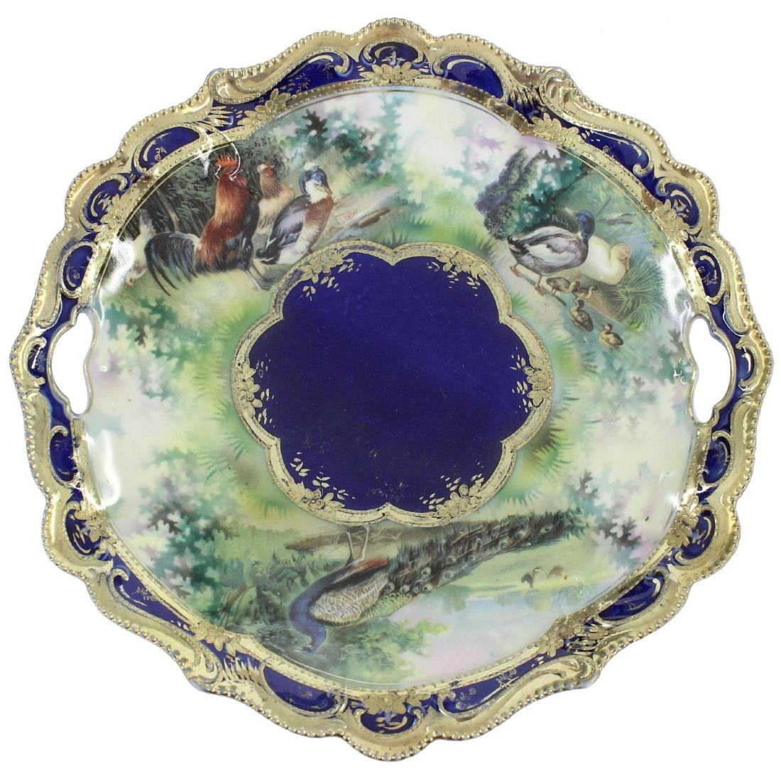 """Cake Plate - Unmarked Prussia - 11"""""""