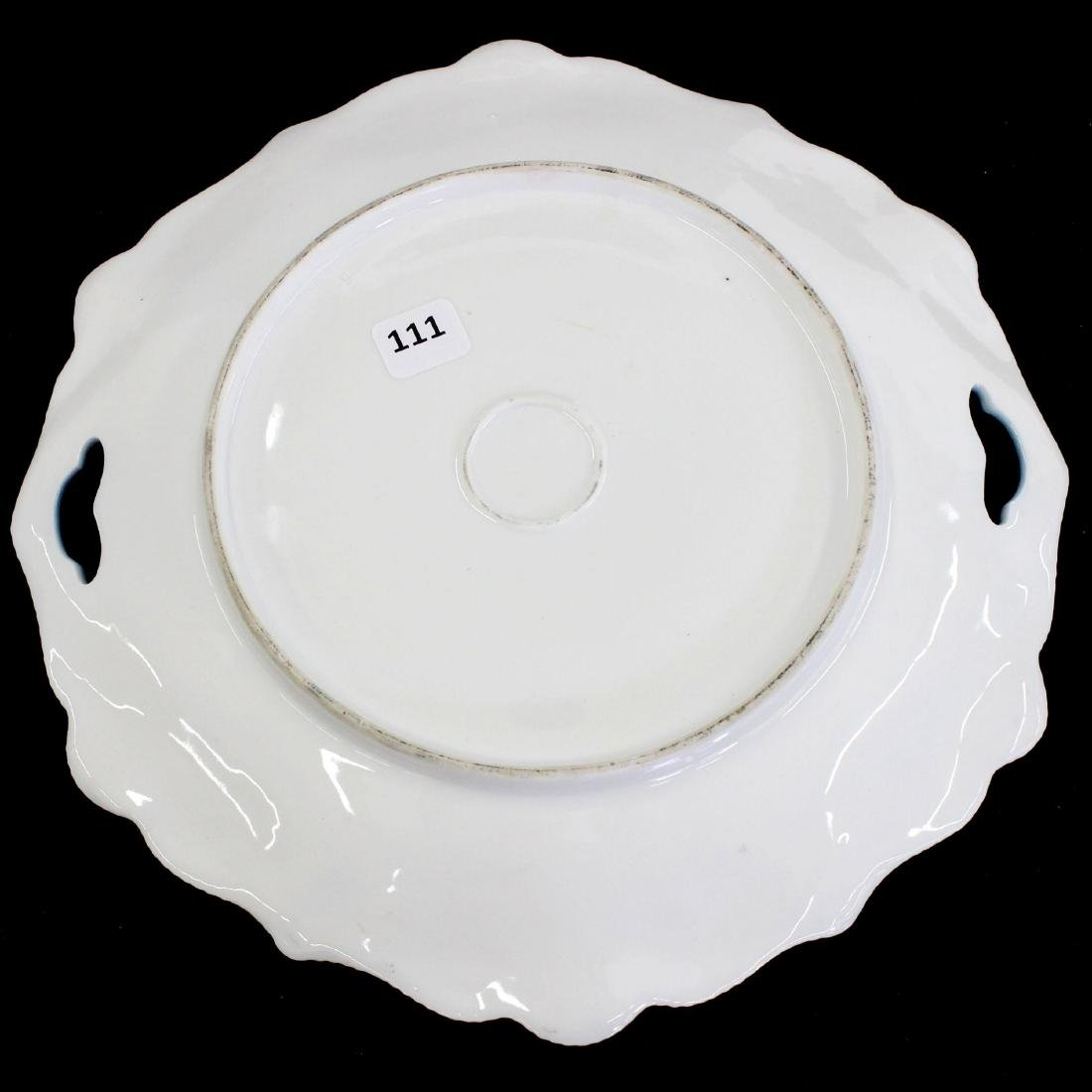 """Cake Plate - Unmarked Prussia - 11"""" - 2"""