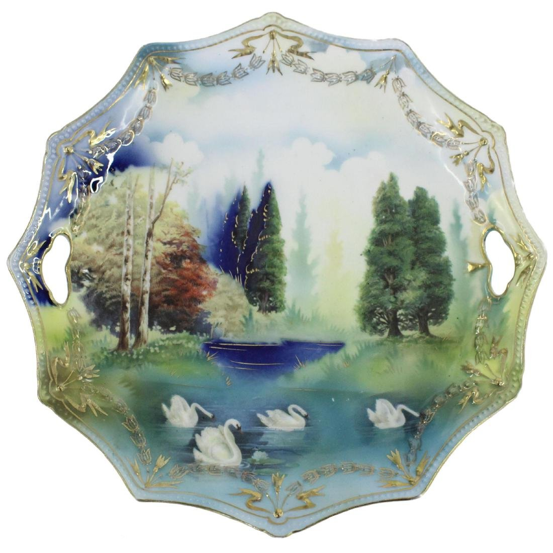 """Cake Plate - Marked R.S. Prussia - 9.75"""""""