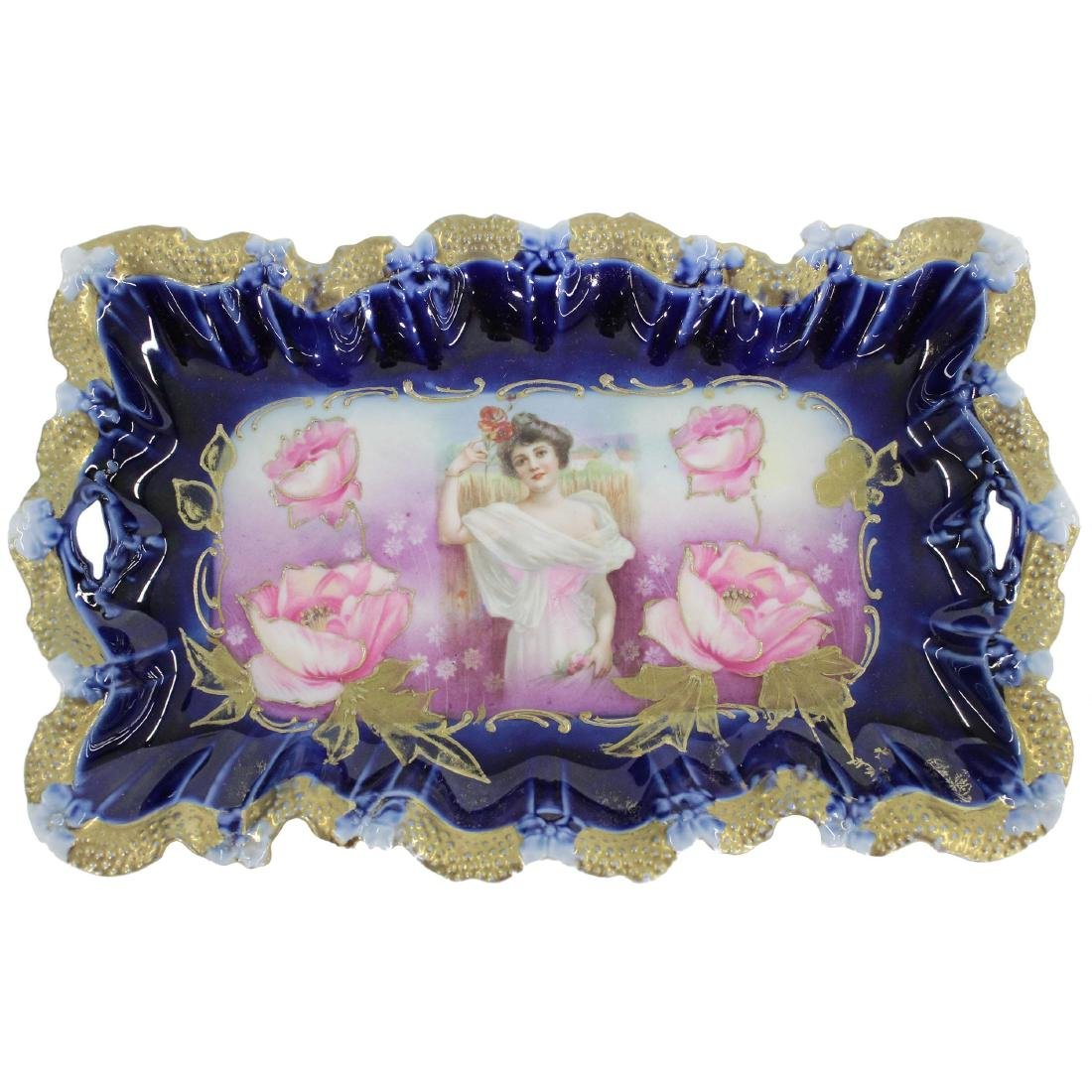 """Dresser Tray - Marked R.S. Prussia - 11.25"""""""