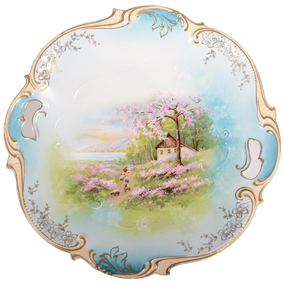 """Cake Plate - Marked R.S. Prussia - 11"""""""
