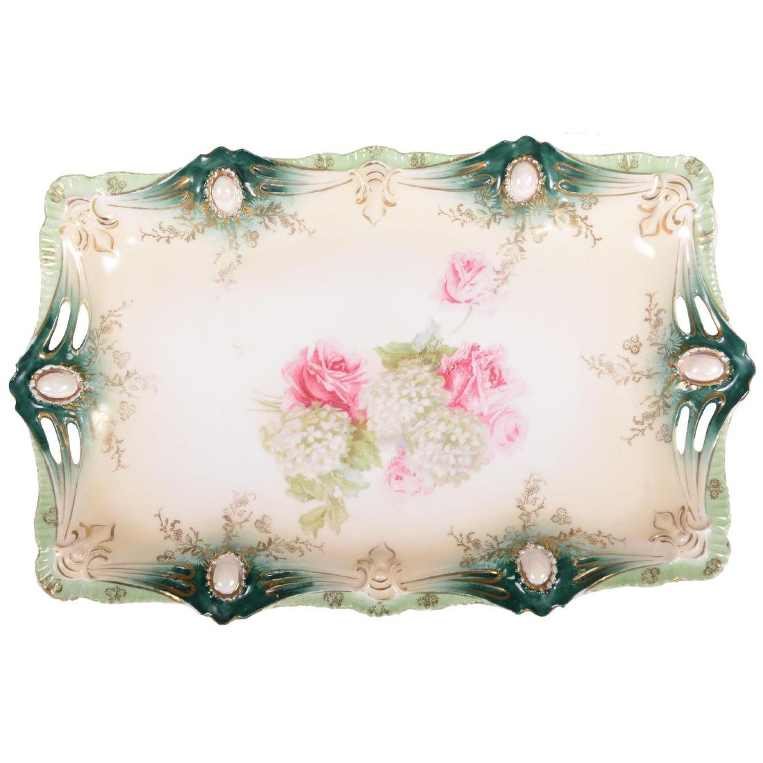"""Dresser Tray - Marked R.S. Prussia - 12"""""""