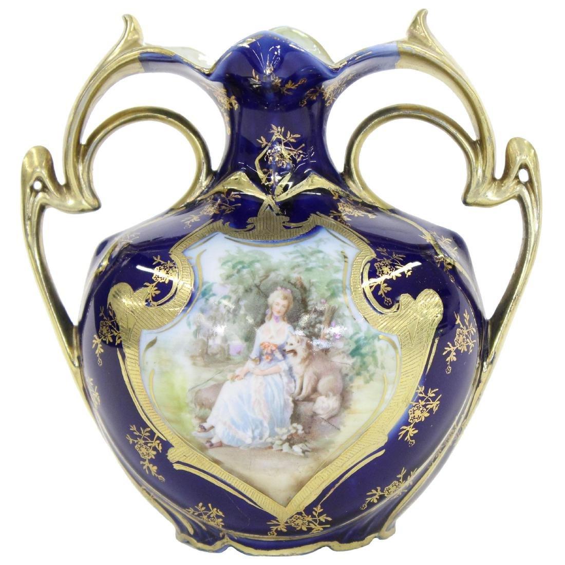 "Vase - Royal Vienna Mark - 6.25"" X 6"""