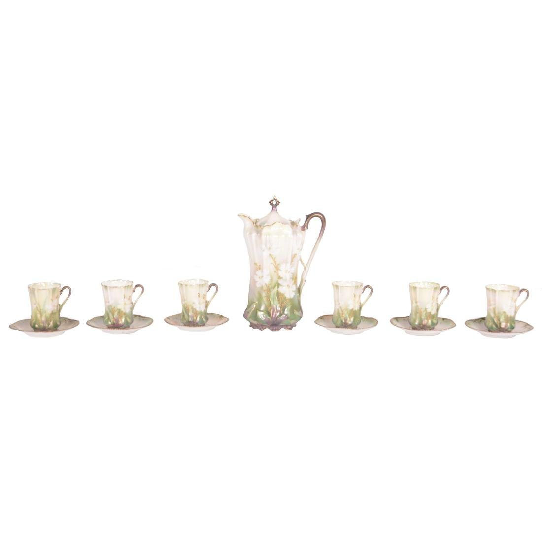 """Chocolate Set - Marked R.S. Prussia - 9.5"""" Pot"""