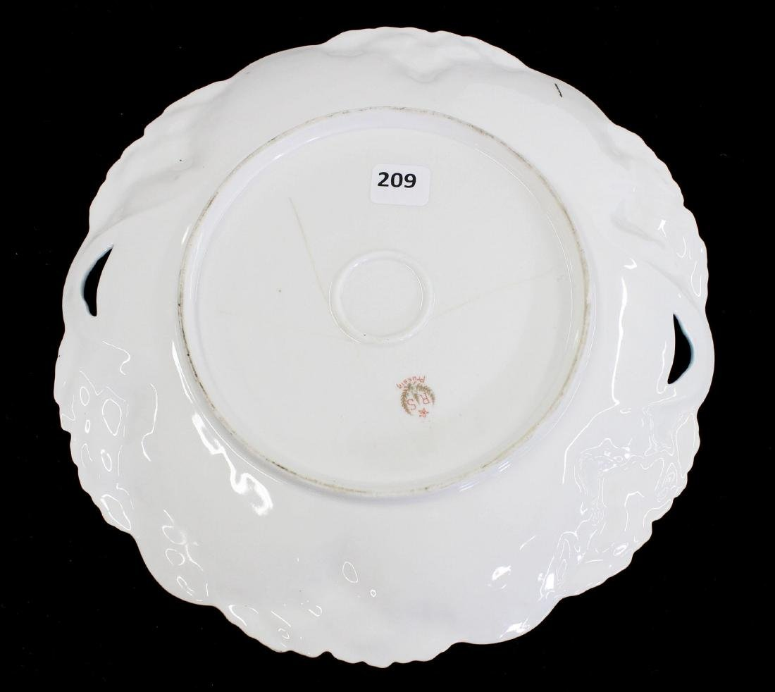"Cake Plate - Marked R.S. Prussia - 10.25"" - 2"
