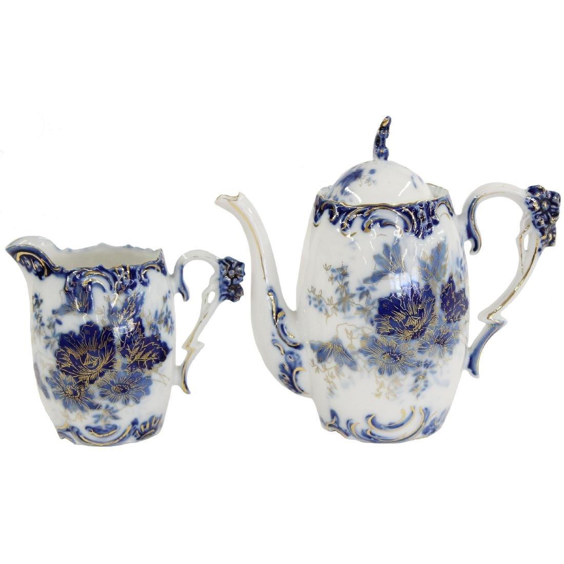 """Tea Set - R.S. Steeple Mark - 6.5"""" Pot"""