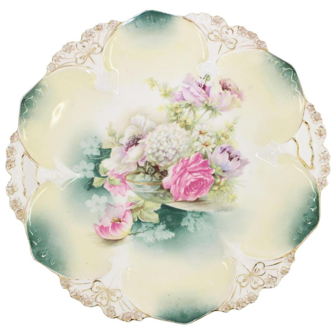 Cake Plate - Marked R.S. Prussia - 11""