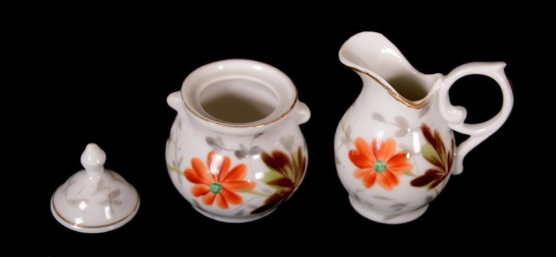 """Child's Tea Set - Unmarked Germany - 5"""" Pot - - 3"""