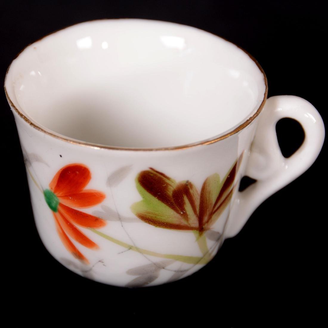 """Child's Tea Set - Unmarked Germany - 5"""" Pot - - 4"""