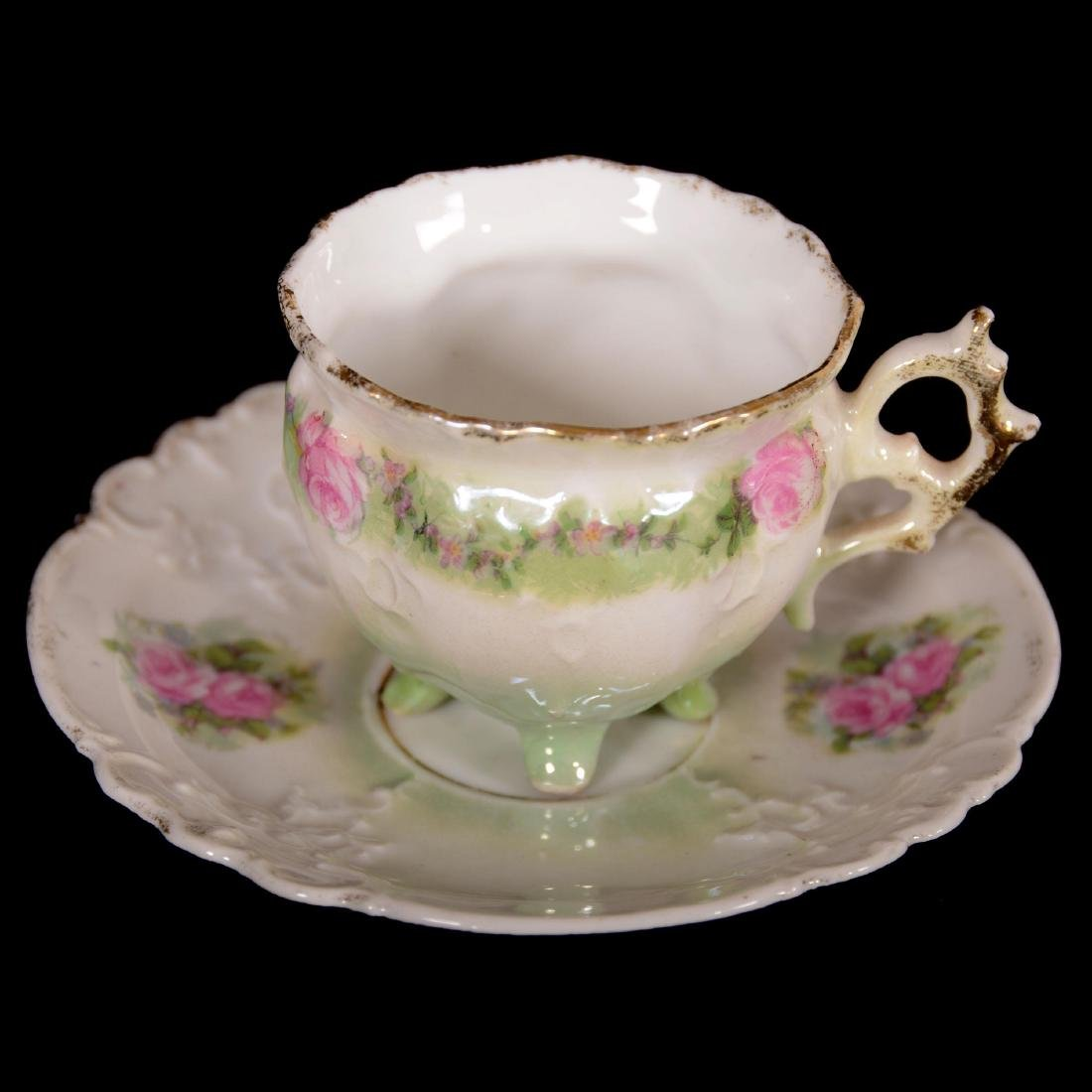(6) Demitasse Cups and Saucers - Unmarked Prussia - 3