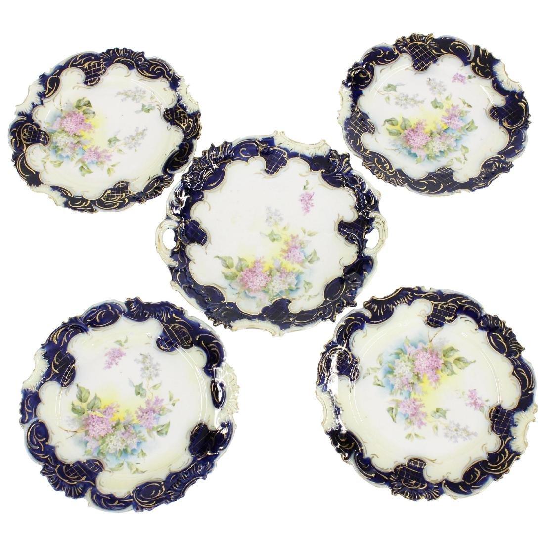 "Cake Set - R.S. Steeple Mark - 9.75"" Cake Plate"