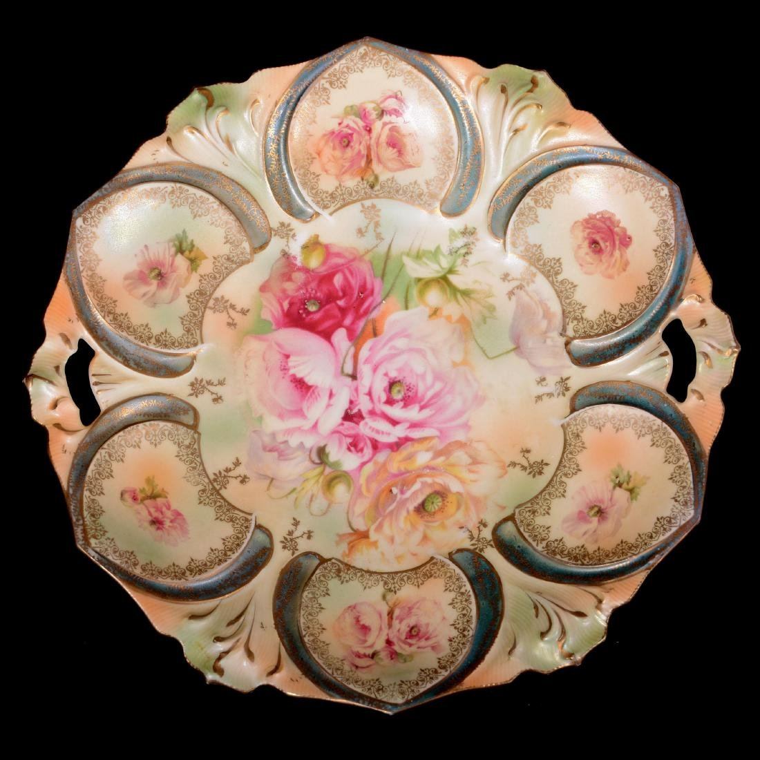 """Cake Plate - Marked R.S. Prussia - 10.75"""""""