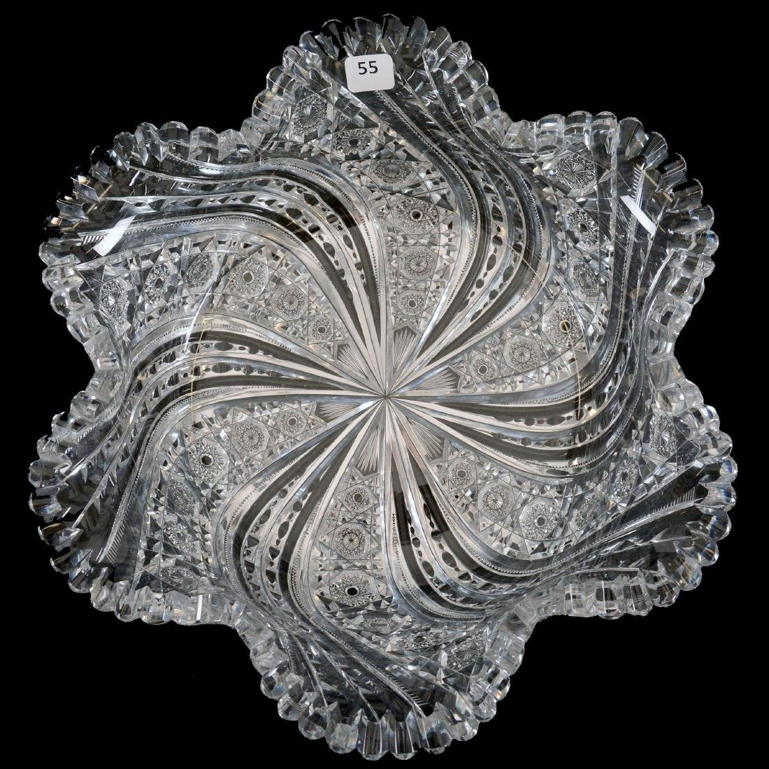 """Blown Mold Bowl-4.25"""" X 13""""- Peerless Pattern by Straus"""