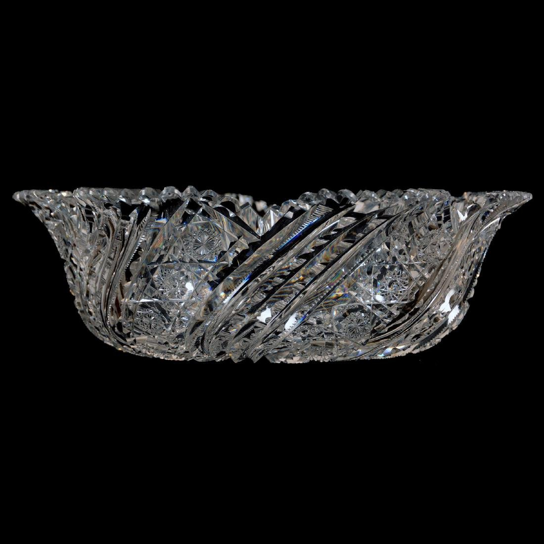 """Blown Mold Bowl-4.25"""" X 13""""- Peerless Pattern by Straus - 2"""
