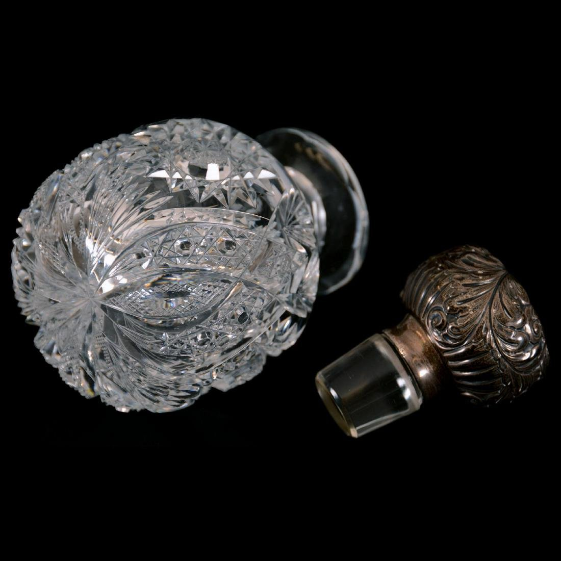 "Cologne Bottle -5.75""- Chrysanthemum Pattern by Hawkes - 2"