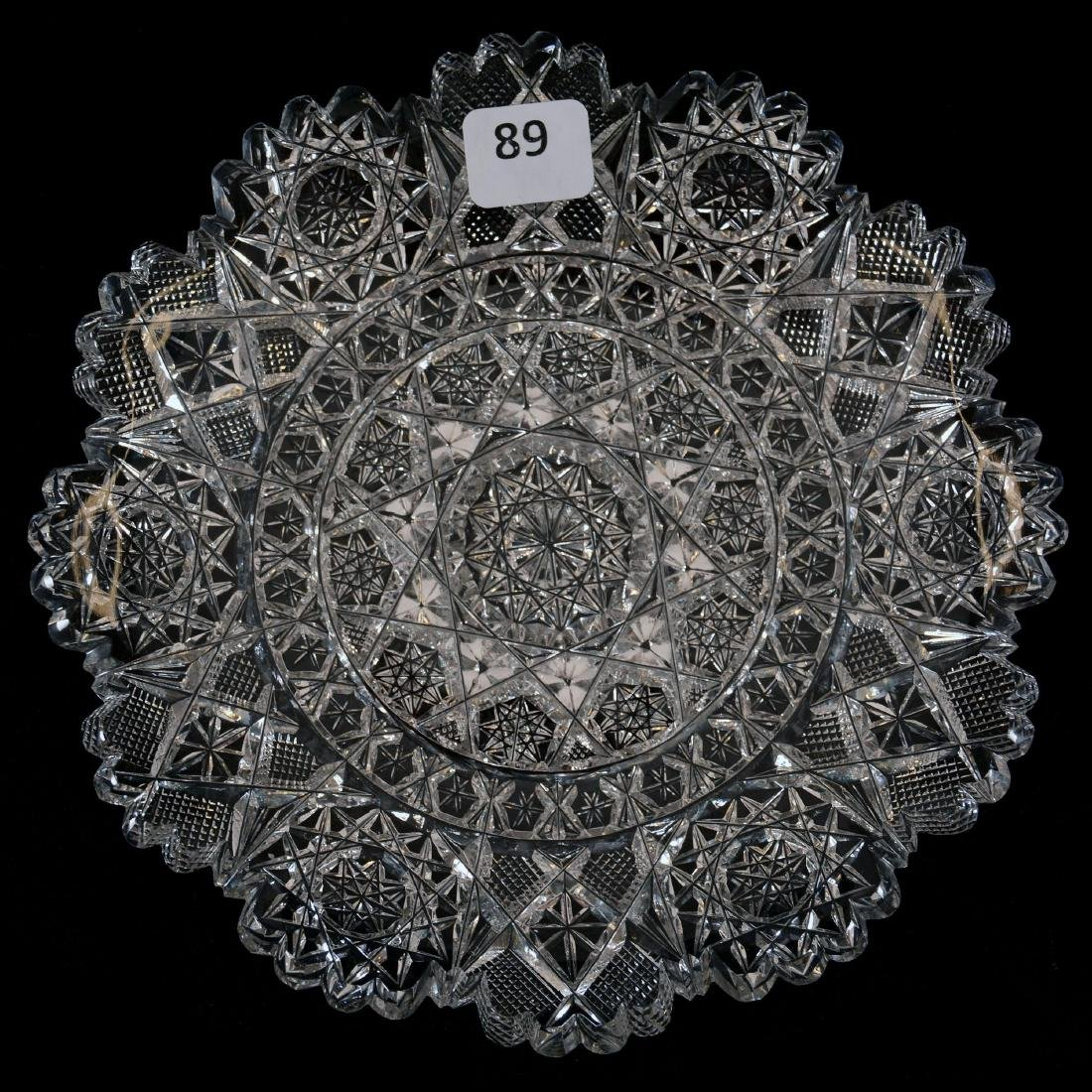 "Plate - 7"" - Arcadia Pattern by Sterling Cut Glass"