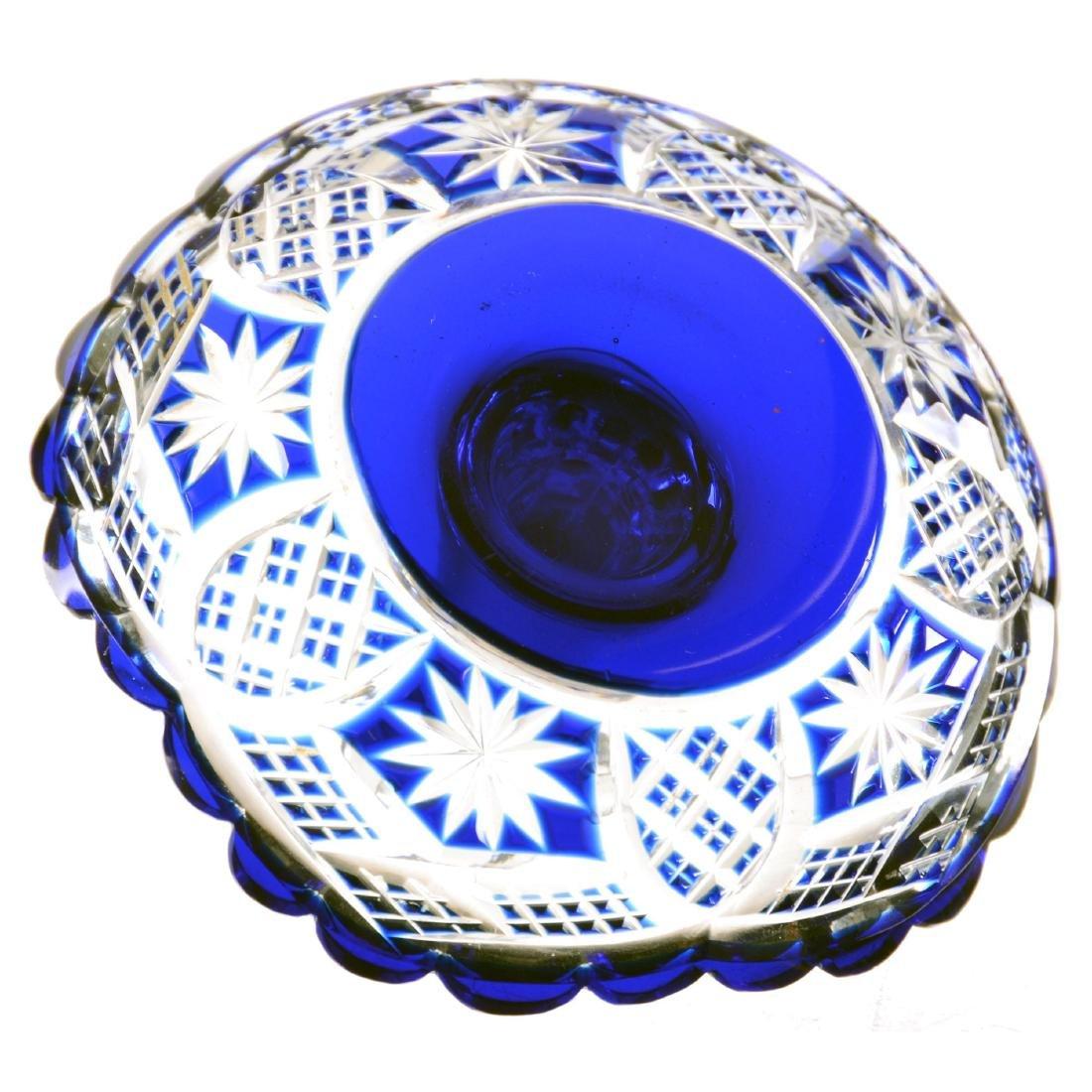 "Stick Dish - 3.5"" X 4"" - Cobalt Blue Cut to Clear - 2"
