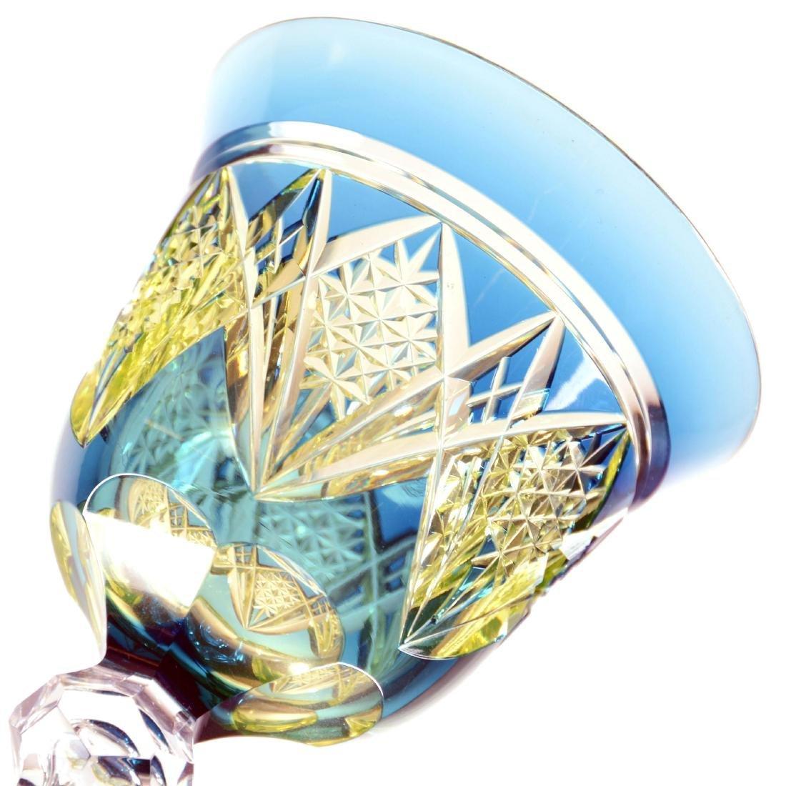 "Rhine Wine - 7.375"" - Blue Cut to Vaseline - 2"
