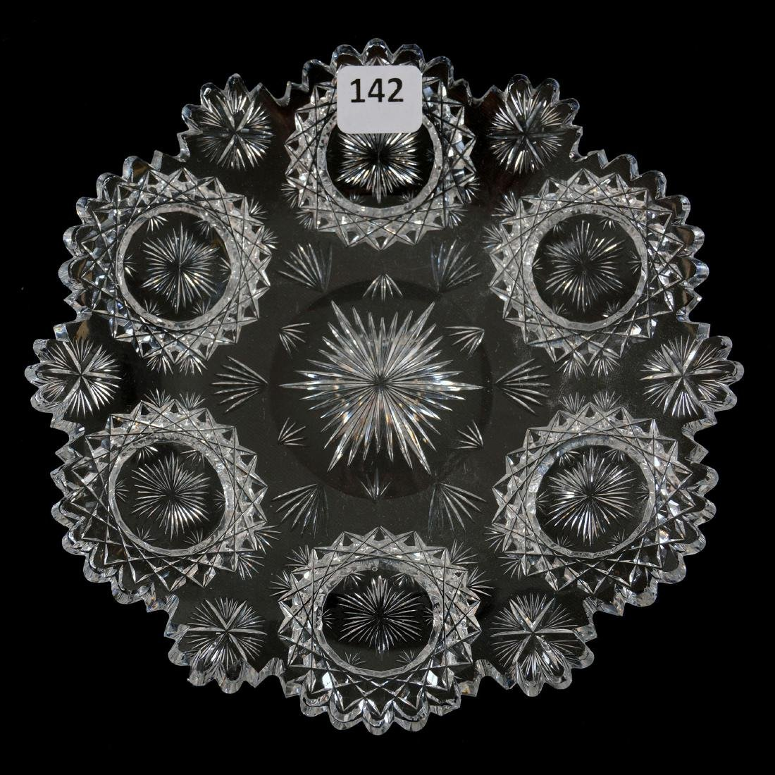"Plate - 7"" - Signed Hawkes North Star Pattern"