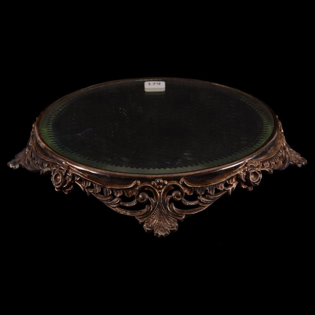 "Beveled Mirror Plateau - 10"" Round"