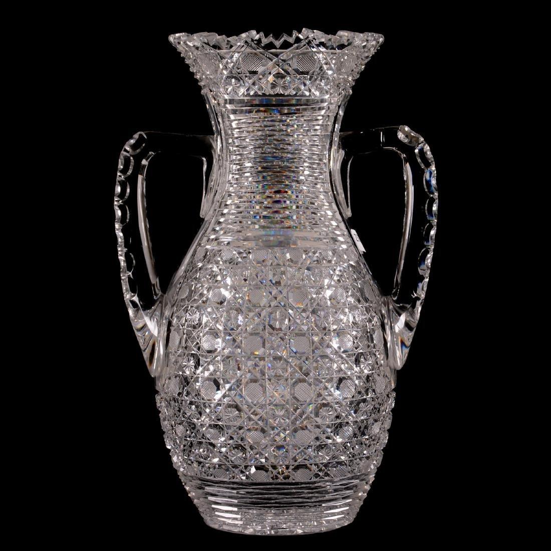 """Two-Handled Vase - 14"""" X 9.5"""" Across Handles"""