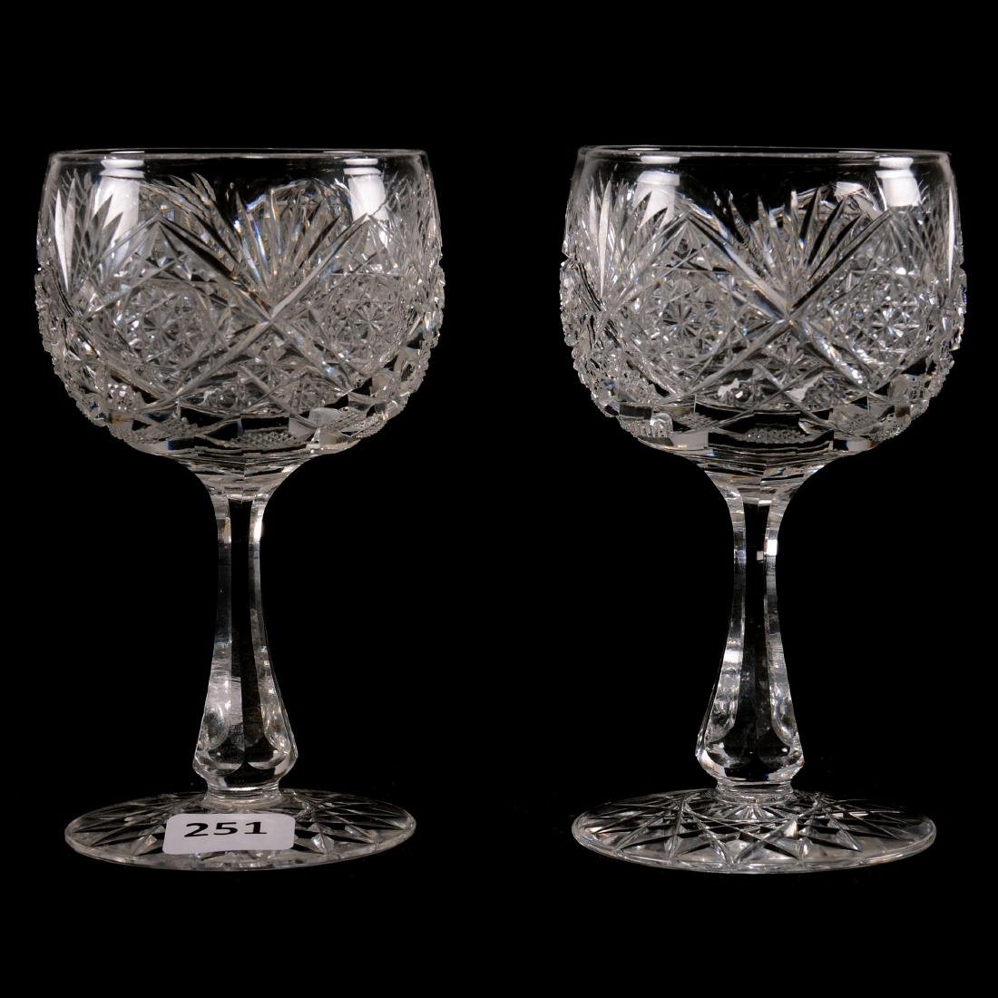 "(2) Wine Glasses - 4.875"""