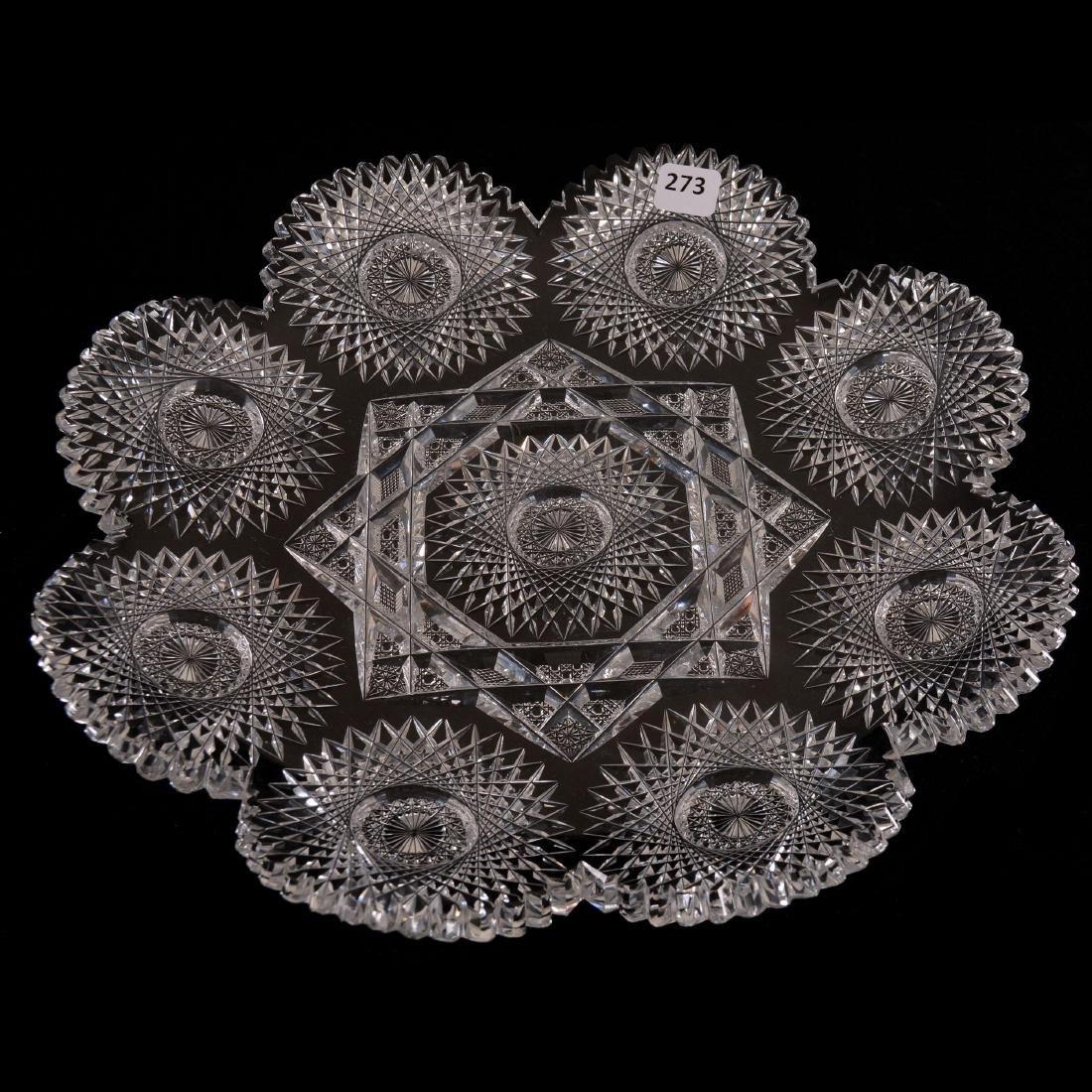 "Round Tray - 13"" - Star Pattern by Meriden"