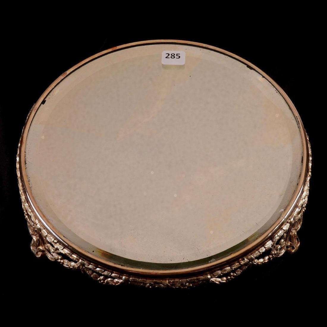 "Beveled Mirror Plateau - 10"" Round - 2"