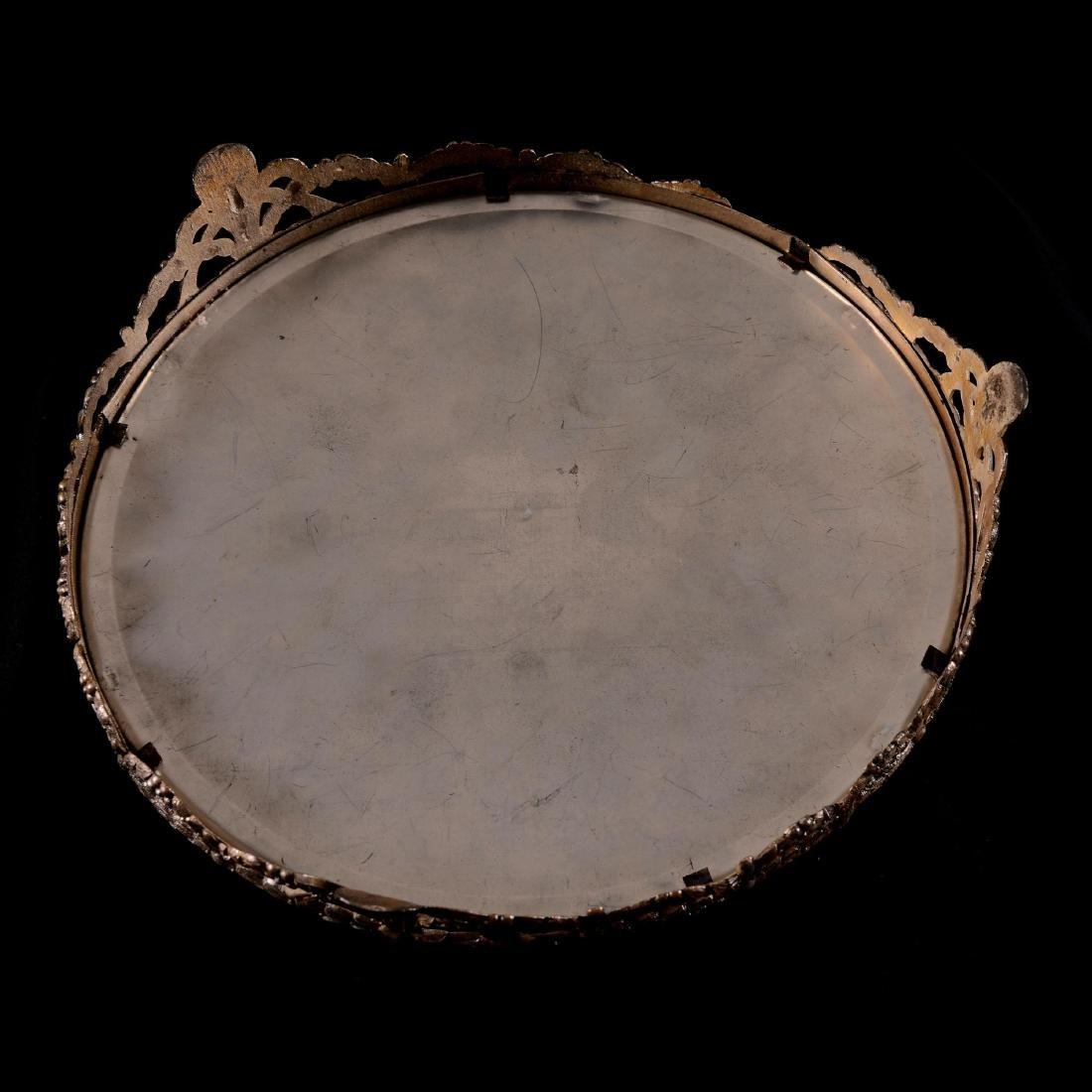 "Beveled Mirror Plateau - 10"" Round - 3"
