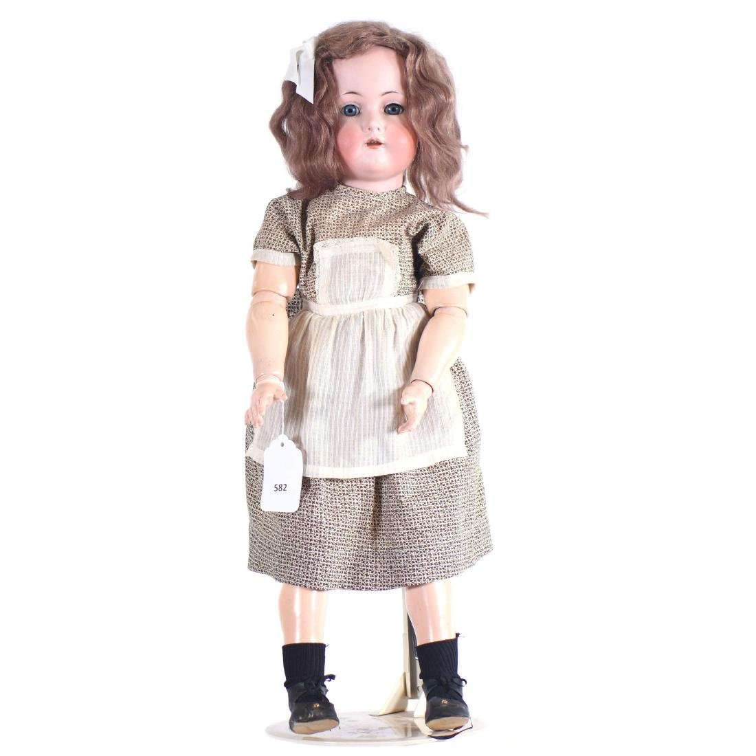 """German Bisque Head Doll - Approximately 25"""""""