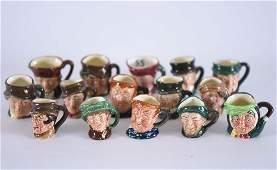 (15) Miniature Royal Doulton Character Jugs