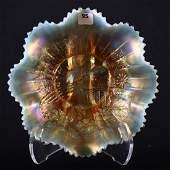 Ruffled Bowl  Carnival Glass  875