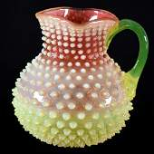 "Water Pitcher - Rubina Verde Opalescent - 8"""