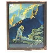 """Framed Maxfield Parrish Print - 16"""" X 13"""""""