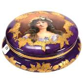 """Covered Box Marked Limoges 3.5"""" X 7"""""""