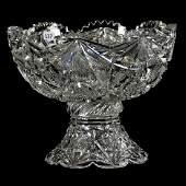 "Punch Bowl - American Brilliant Cut Glass 8"" X 10"""