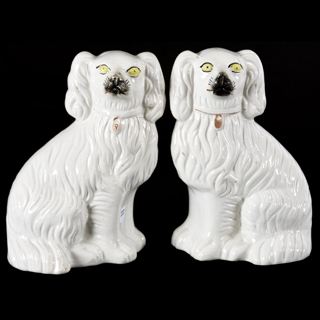 Pair Staffordshire Dog Figures 9.5""