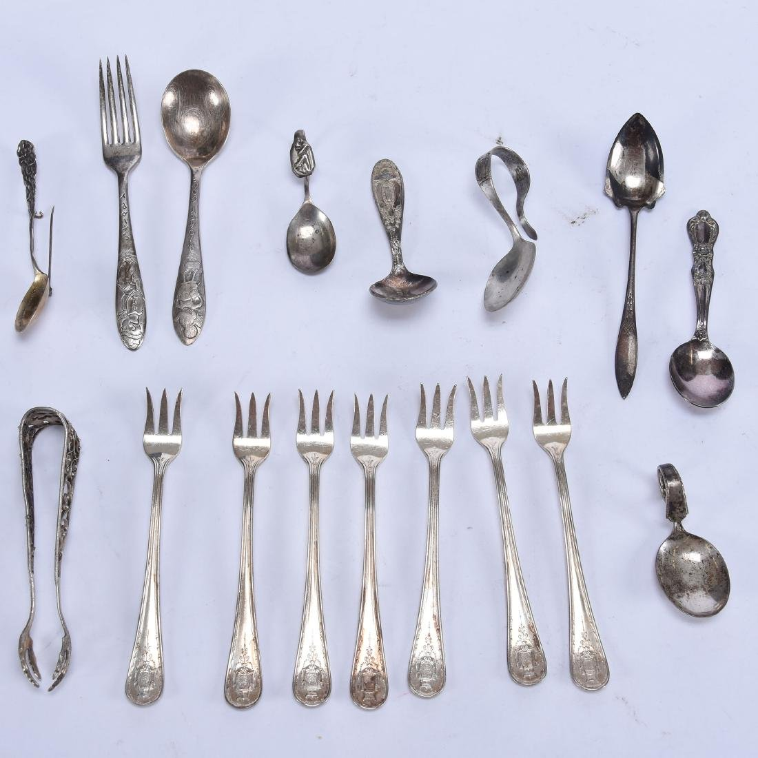 Large Grouping of Sterling and Silverplate Flatware - 10