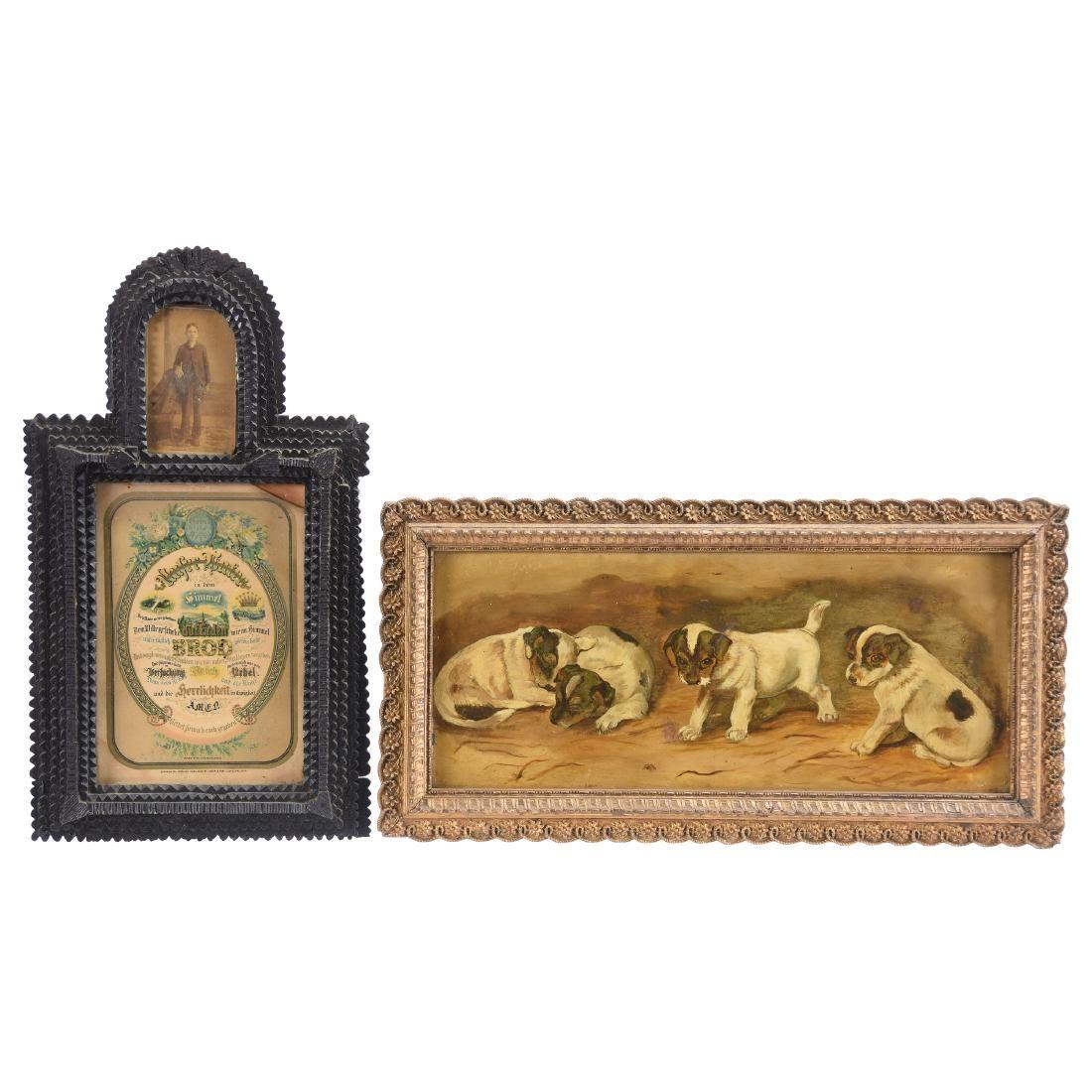 (2) Framed Items