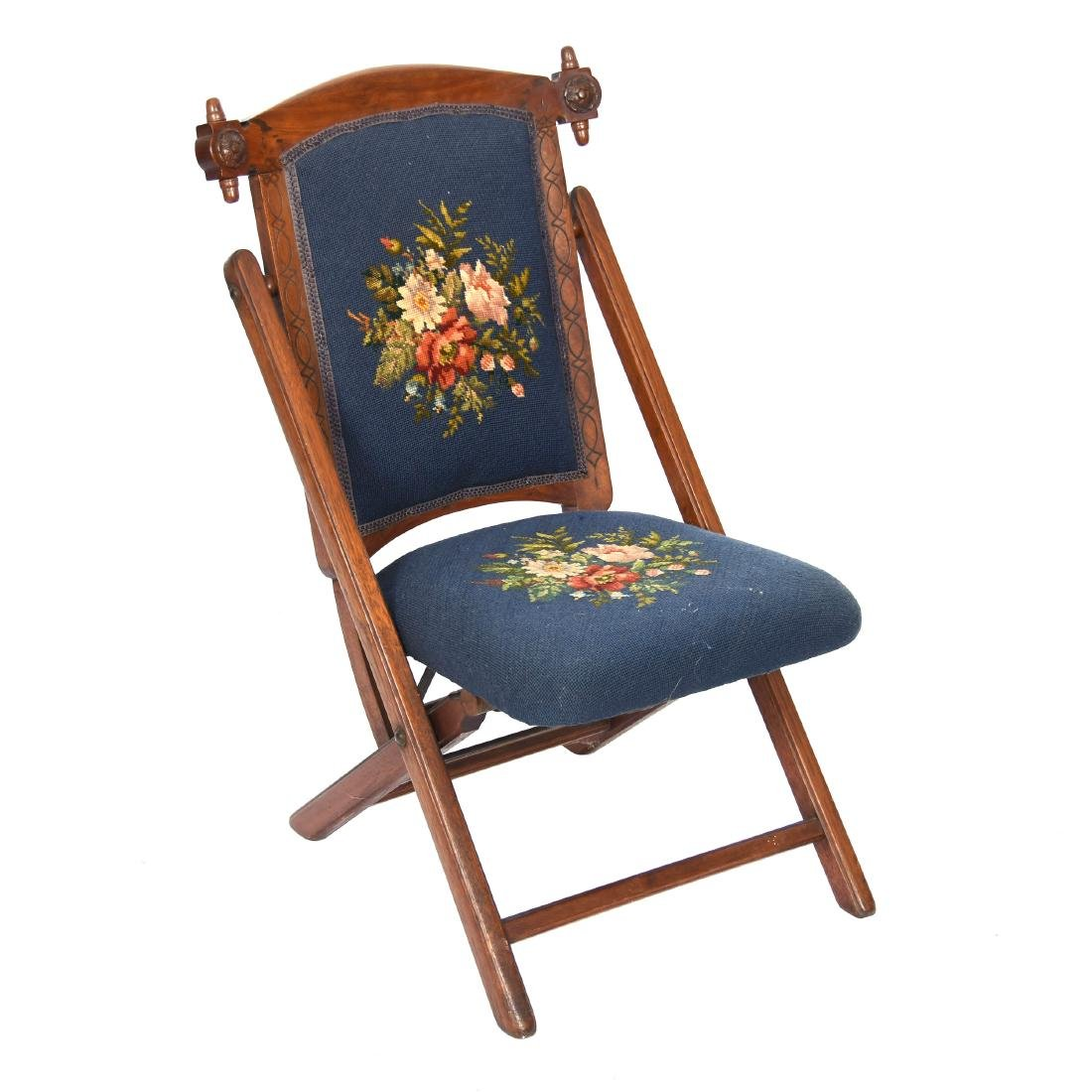 "Walnut Folding Chair 32"""