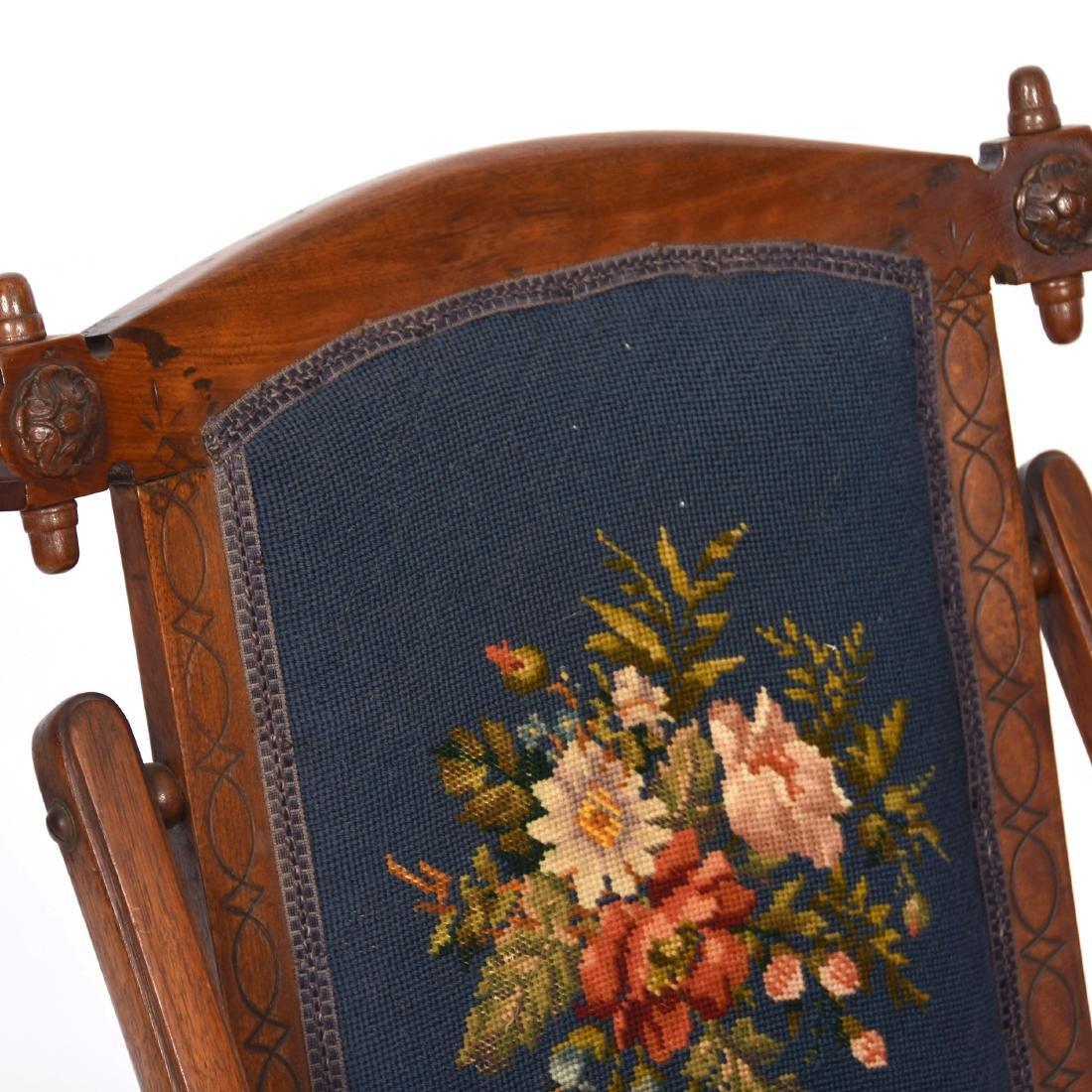 "Walnut Folding Chair 32"" - 3"