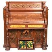 """Elaborate Burl Walnut Pump Organ 55"""" X 53"""""""