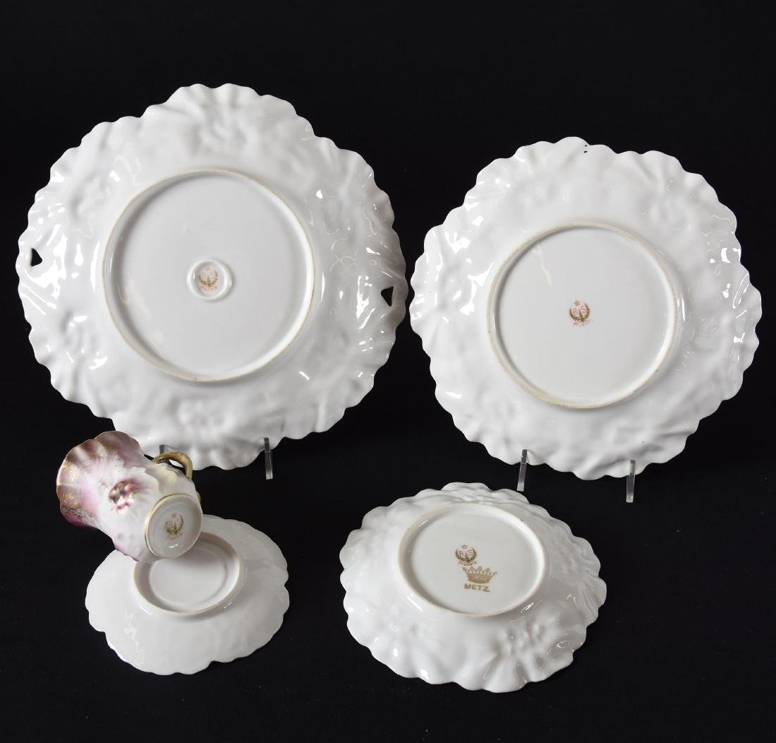 (4) Marked RS Prussia Sunflower Mold Items - 2