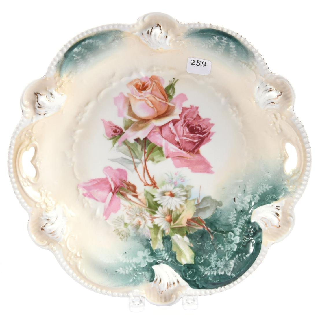 """Cake Plate Marked RS Prussia 11"""""""