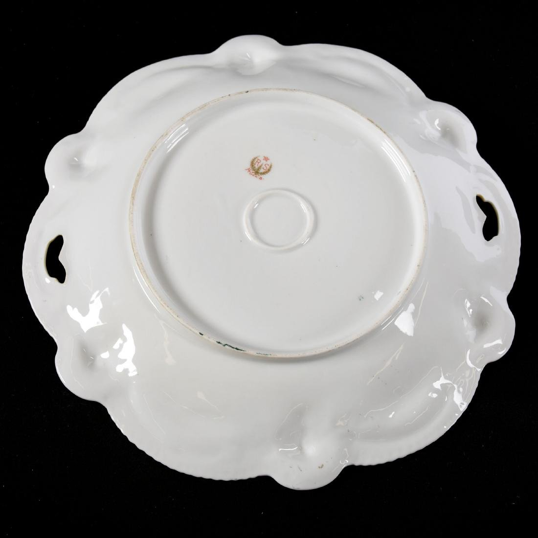 """Cake Plate Marked RS Prussia 11"""" - 2"""