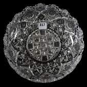 Low Bowl American Brilliant Cut Glass