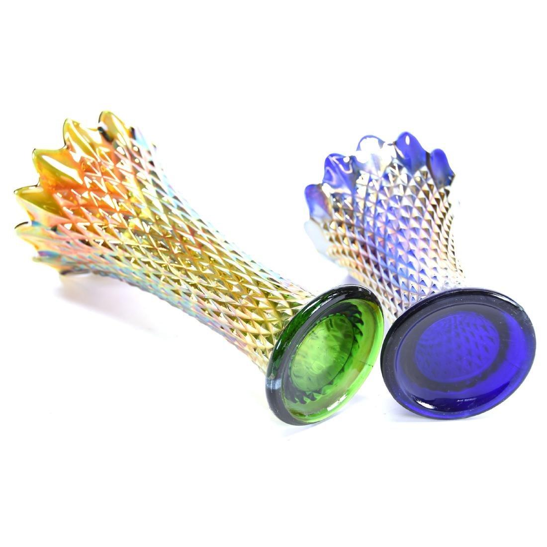 (2) Carnival Glass Vases - 2