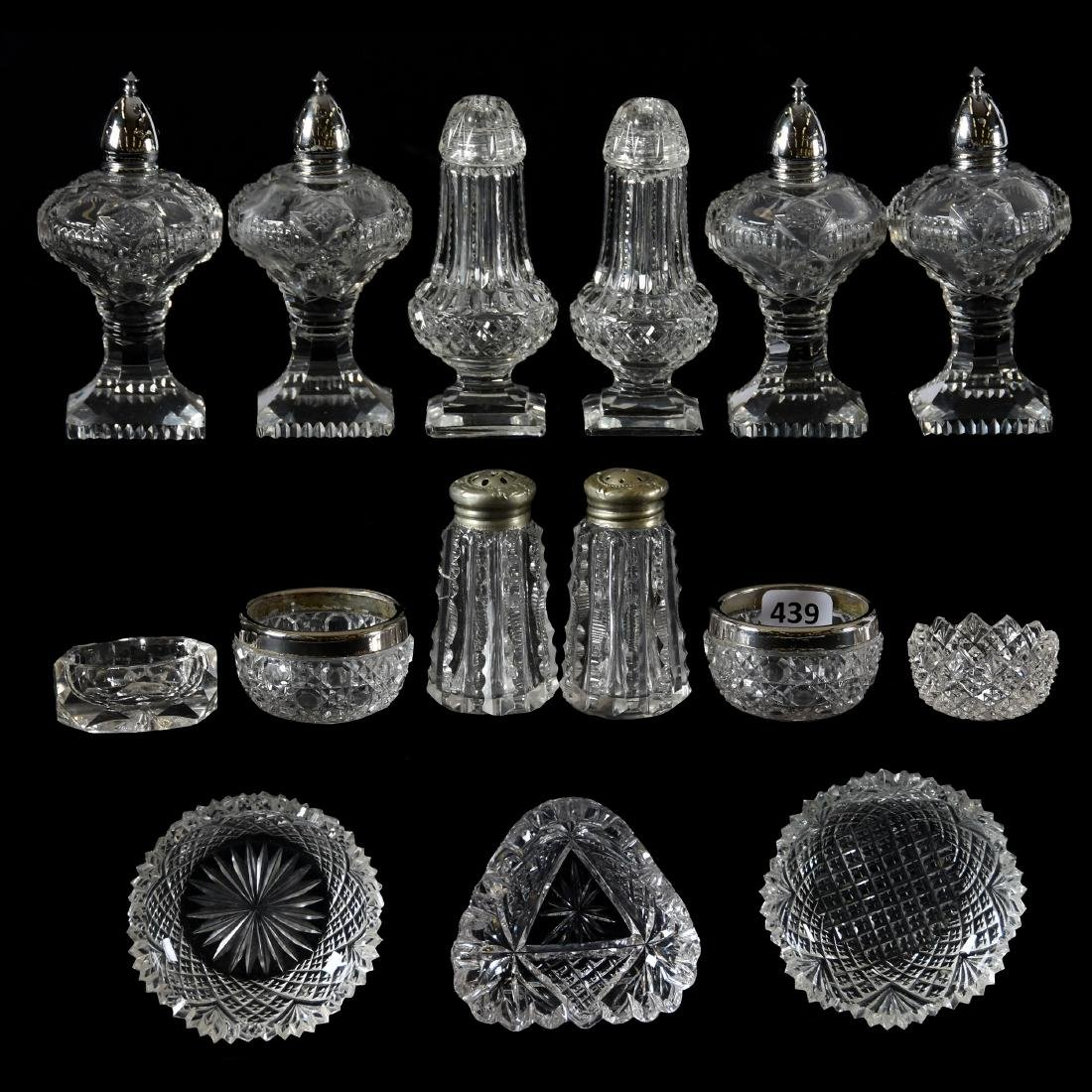 (15) Assorted American Brilliant Cut Glass Items